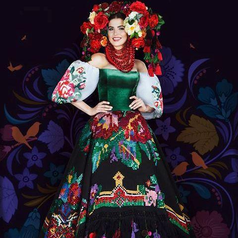 32197d13891caf Ось таку «Квітучу Україну», а саме так називається це вбрання, Міс Україна  2016 Олена Сподинюк представила для конкурсу національних костюмів на Міс  Всесвіт ...